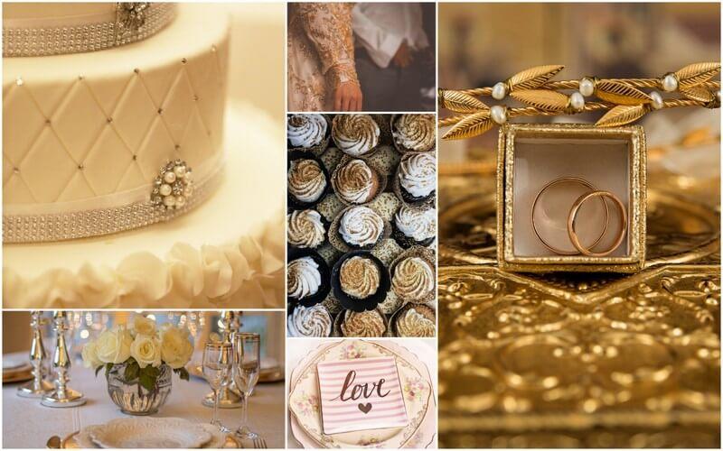 Confettitime złote dekoracje