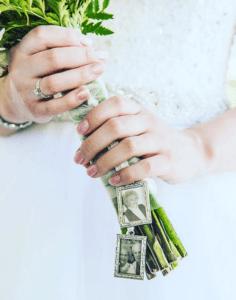 Bukiet ślubny spersanolizaowany
